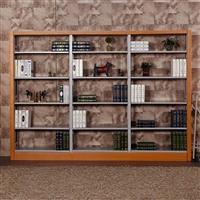 重慶鋼制書架單面木護板閱覽