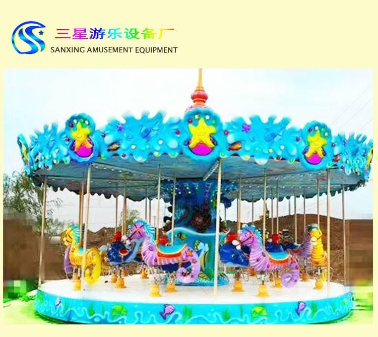 旋转木马大型游乐设备  大型庙会游艺设施转马