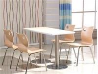 快餐桌椅組合曲木椅餐桌
