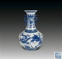 清青花龍紋雙耳瓶在西安的價格