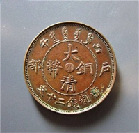 深圳大清銅幣中間鄂字鑒定和價格