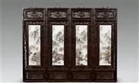 甘肃快速?#23665;?#29579;跃祖瓷板画 的价格行情