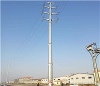 电力钢杆基础 13米输电10KV电力钢杆设计