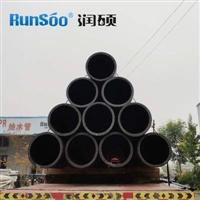 厂家直销dn710黑色pe排污管  污水管