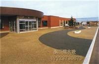 南充 透水混凝土 學校跑道彩色地坪 彩色透水混凝土 彩色混凝土