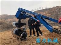 大型挖坑机雷力四轮车带挖坑钻机