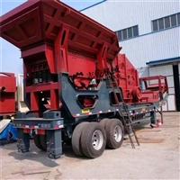 移动破碎站移动石子粉碎机 砂石制砂生产线 志乾 移动式垃圾