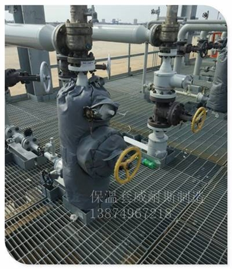 可拆卸燃气机保温衣应用