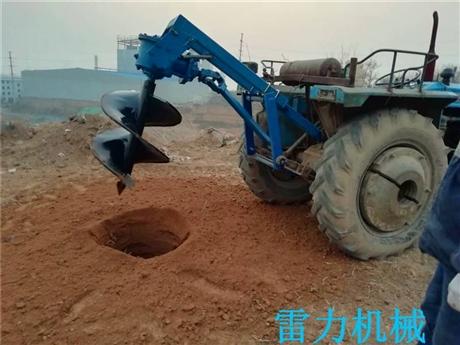 拖拉机配置挖坑机钻树坑完整系统