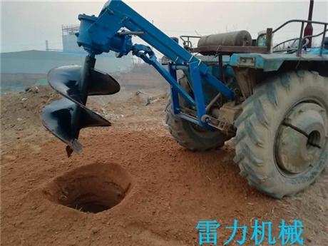 拖拉机后悬挂式植树挖坑机新品