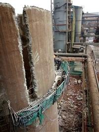 湖北鄂州高空烟囱拆除公司
