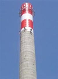 三明市烟囱安装爬梯报道