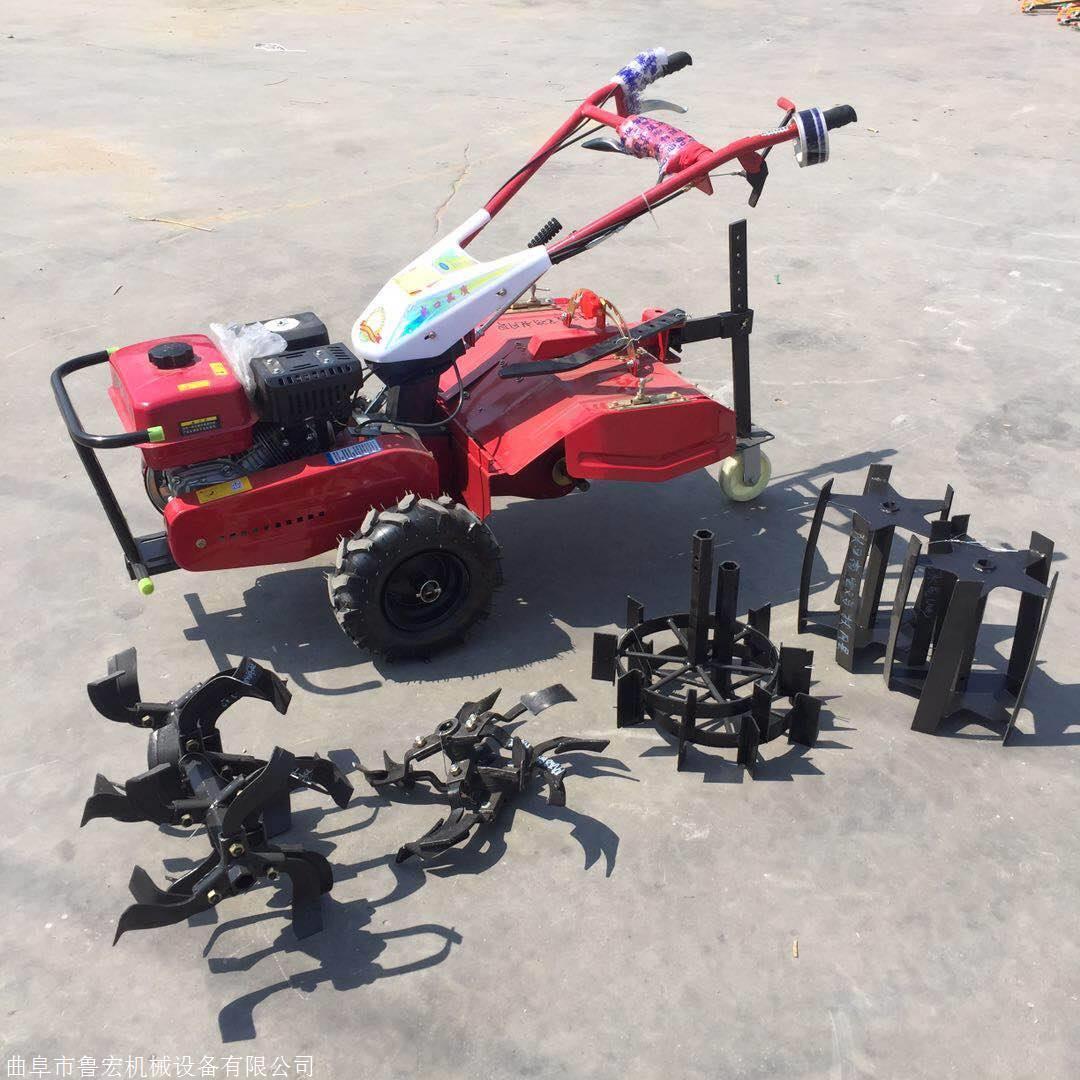 旋耕刀旋耕宽度37厘米二冲程四冲程背负式除草机可以带旋耕,除草,开沟图片