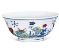 大明斗彩鱼藻纹杯的成交价是多少
