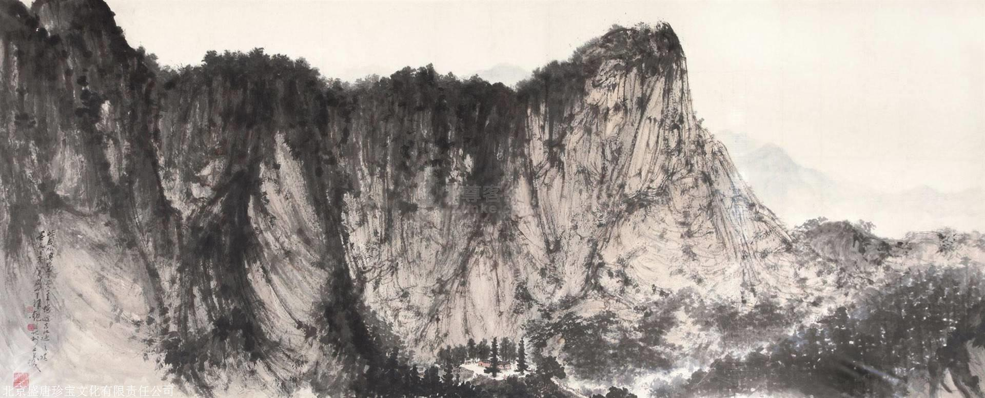 傅抱石山水画每平尺价格图片