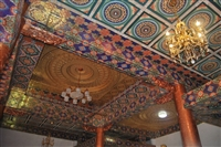 佛堂吊頂天花板裝飾古建八角藻井