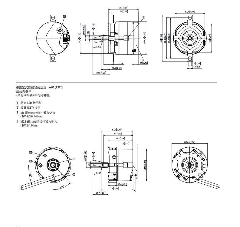德國KUBLER編碼器8.5873.HKEL.C321單圈絕對型適用別墅電梯