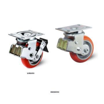 200橡胶减震固定轮,轴承 标准滚珠