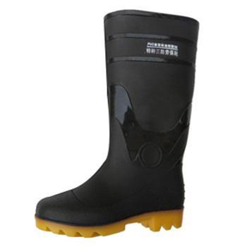 高筒雨靴,防滑耐油,???黑色,44,PKXZ-001