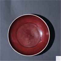 明宣德紅釉敞口盤哪里鑒定方法好