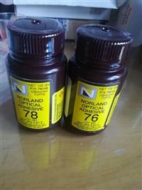 原装进口美国诺兰NORLAND光固化UV胶NOA78紫外线UV胶水UV无影胶水