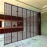 阳江酒店屏风铝花格窗装饰