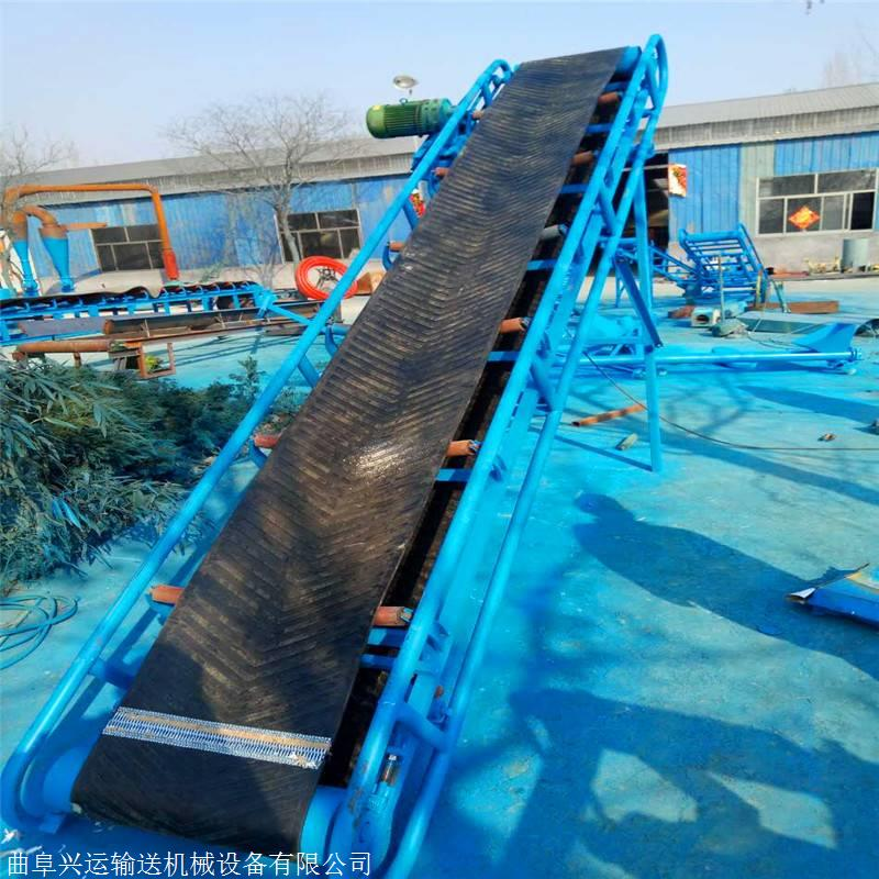 两相电链条传送9米长倒仓搬运皮带输送机