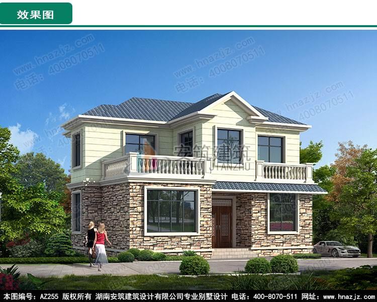 三层新中式别墅图纸设计,民宿风自建房屋设计图,az121