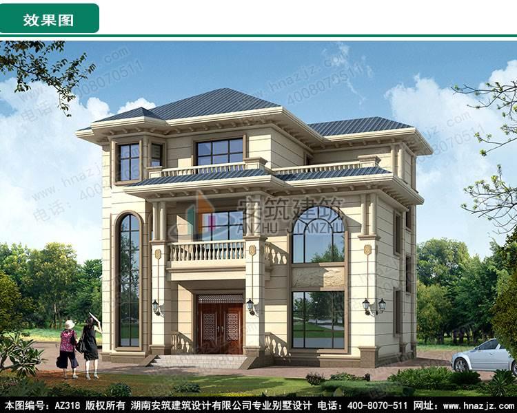 2层别墅房屋设计图图片_高清图-湖南安筑建筑设计有限