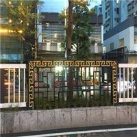 公园改造防护栏木纹铝窗花 小区仿古铝花格厂家