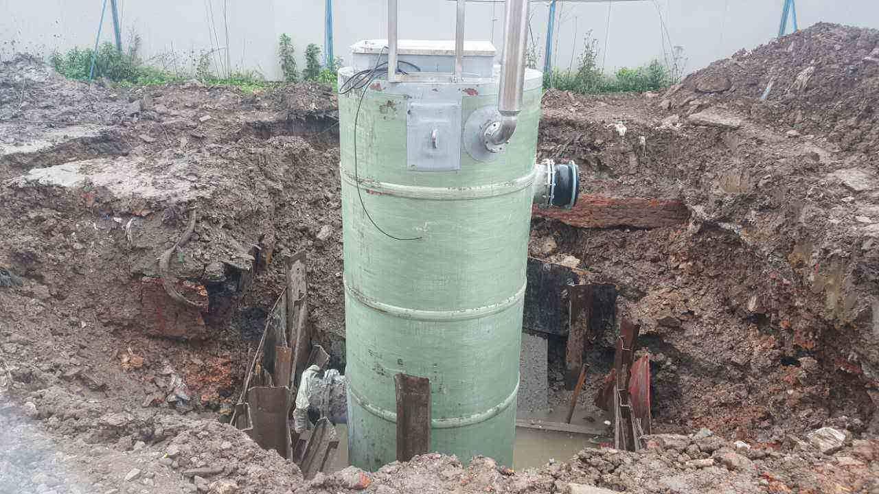 玻璃钢地埋式废水提升泵站