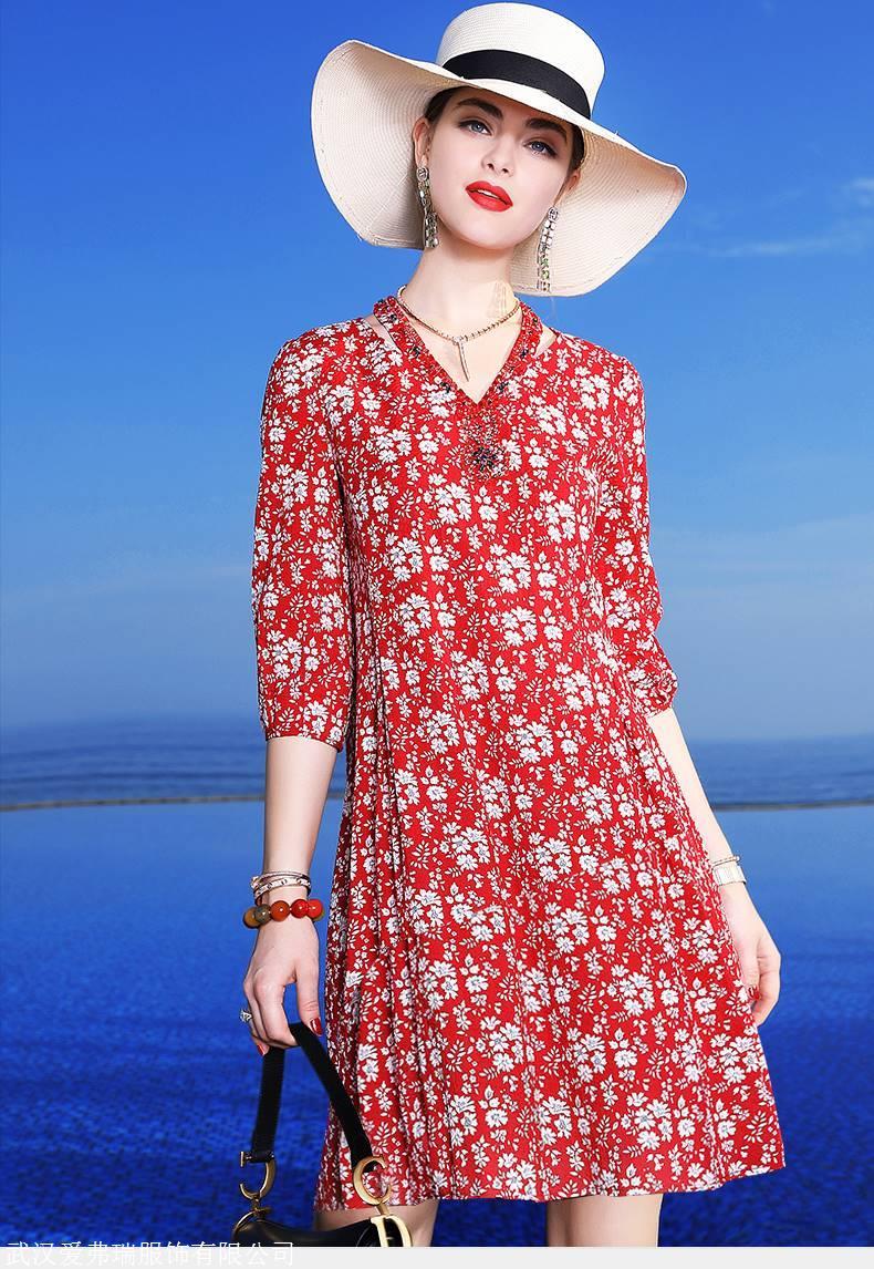 百分百调换服装拿货一手码 米兰登褶皱仙女裙