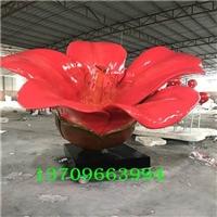 玻璃钢植物造型雕塑、木棉花造型雕塑、景观植物造型雕塑定做