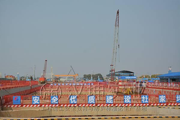 建筑施工临边防护栏 移动性施工护栏 汉坤实业
