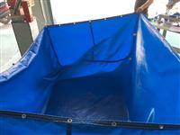 帆布养鱼池大型水池 水产养殖帆布游泳池 生产厂家批发定做