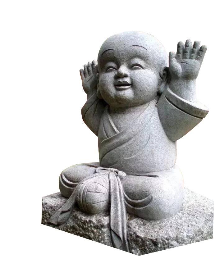 惠安闽兴福石雕厂直销石雕小沙弥禅意沙弥雕像