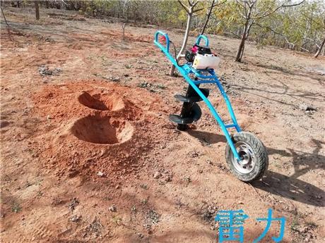 手扶式栽树苗挖坑机器新设计