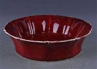 明宣德镶边红釉碗的如今市场行情
