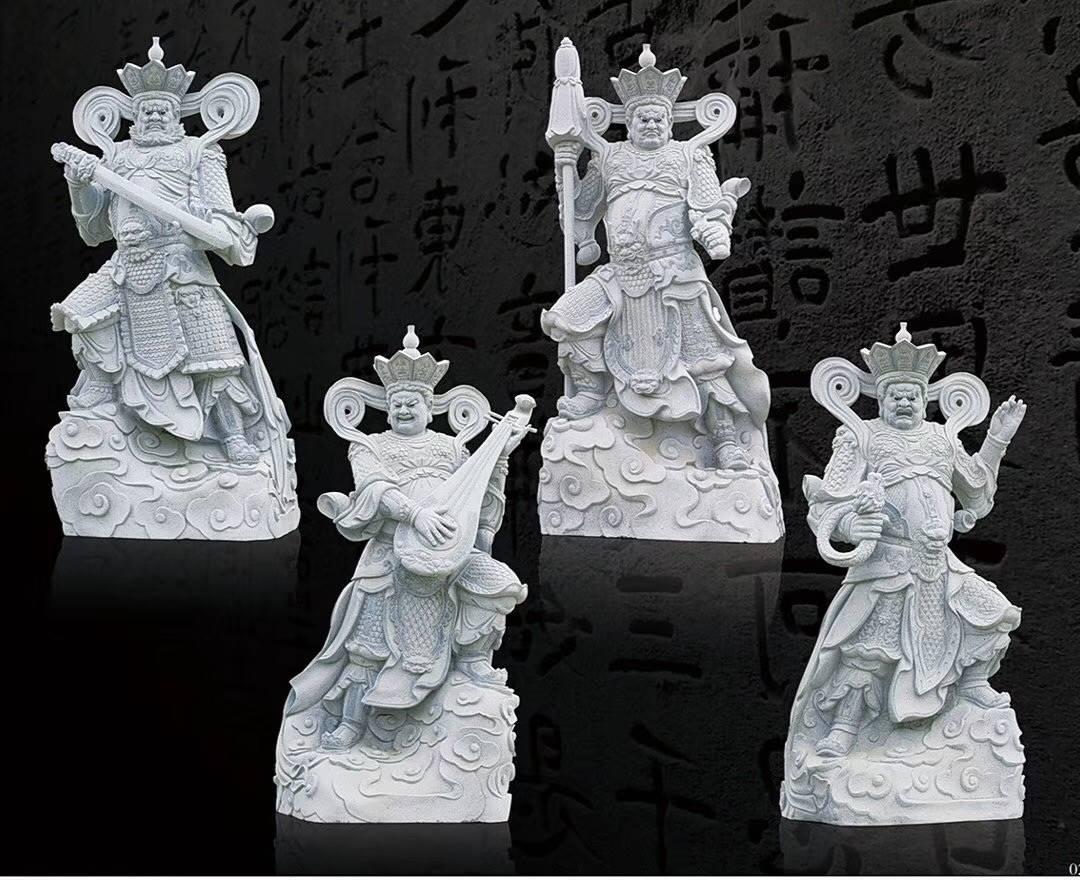 惠安闽兴福石雕厂供应直销石雕四大天王