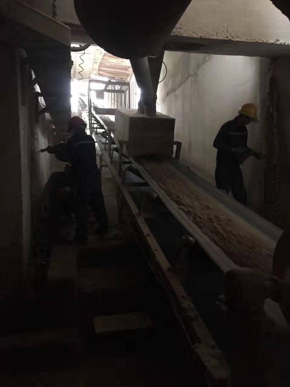 輸煤廊道伸縮縫堵漏維修
