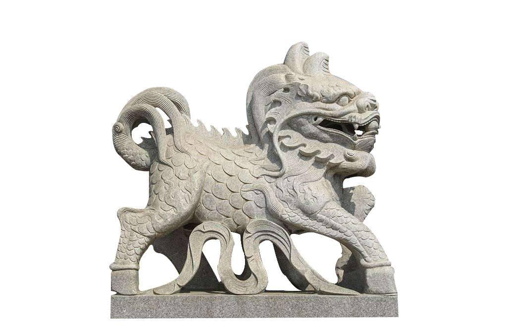 泉州石雕厂家闽兴福供应石雕獬豸法院神兽獬豸