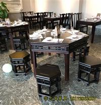 火锅店桌子椅子 江西实木餐桌椅订做