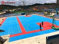 张家界室外塑胶篮球场施工 大型单位健身篮球场地面铺装