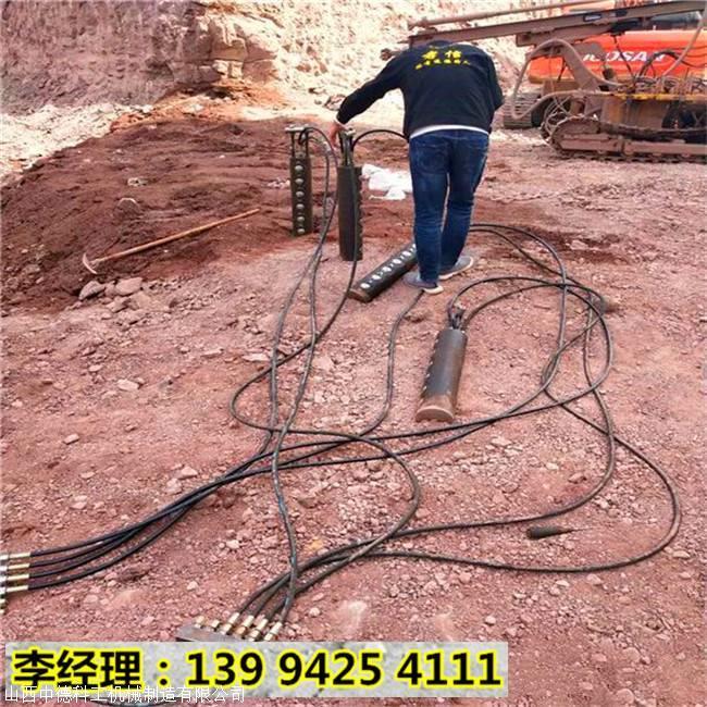 内蒙古赤峰无噪音胀裂硬石怎么提高开石效率案例视频