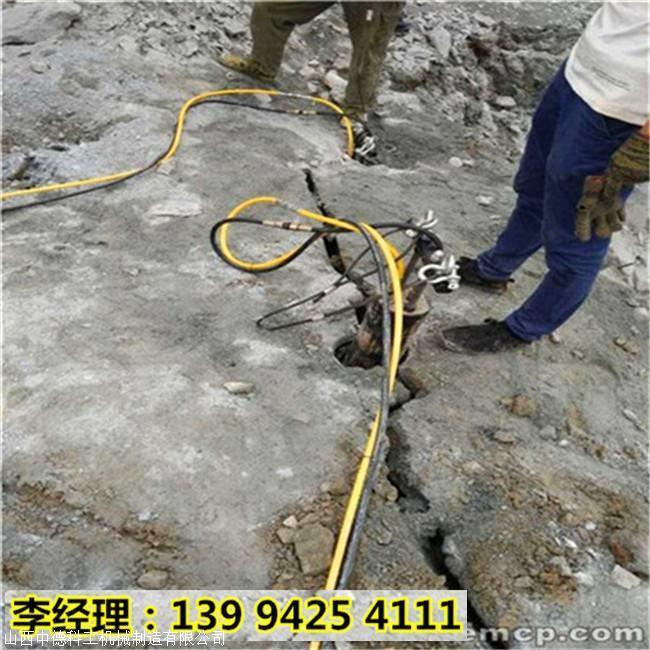 梧州藤县岩石破裂代替传统放炮岩石致裂器代替放炮