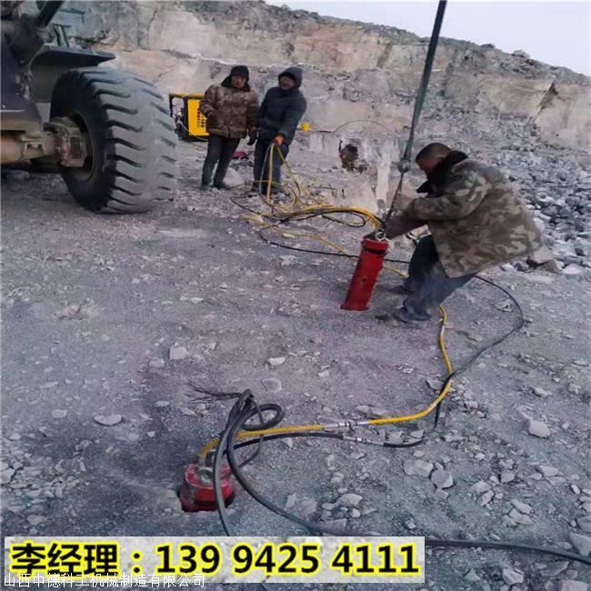 广州增城岩石预裂石头太硬打不动小型分石机器快速开采