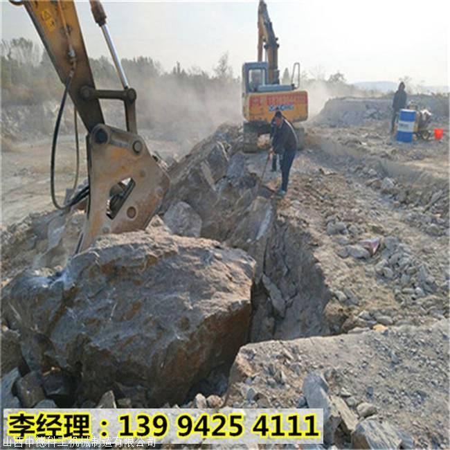 浙江温州无声静态破石裂石机不用放炮的机器帮你解决难题
