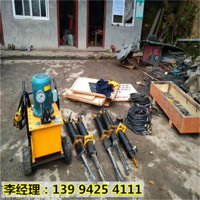 浙江台州管道开挖改建破石头裂石机代替放炮