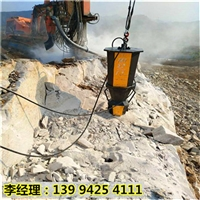 新疆乌鲁木齐替代放炮开采岩石设备静态破石机专破硬石头