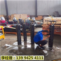 广东梅州替代放炮开采岩石设备静态破石机当场调试